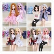 цена Free Shipping 2018 New Arrival 1/6 BJD Doll BJD/SD Fashion LOVELY Doll Include Eyes For Baby Girl make up by hand онлайн в 2017 году