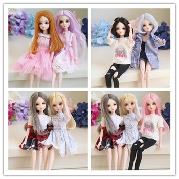 Free Shipping 2018 New Arrival 1/6 BJD Doll BJD/SD Fashion LOVELY Doll Include Eyes For Baby Girl make up by hand