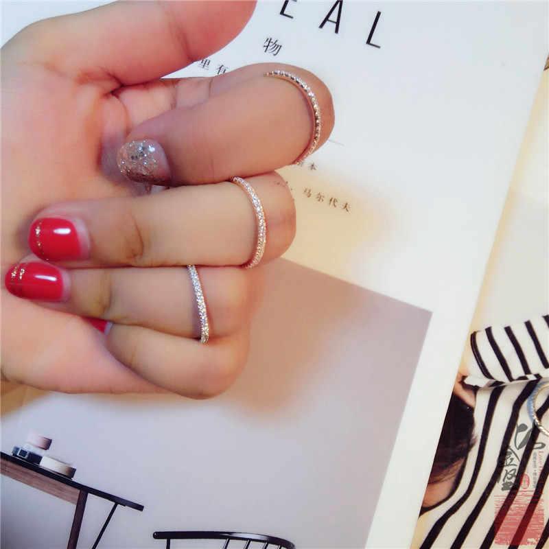 925 แหวนเงินผู้หญิง Simple 2019 คลาสสิกแหวนประณีต cz Rhinestone inlay แฟชั่นเครื่องประดับหญิง