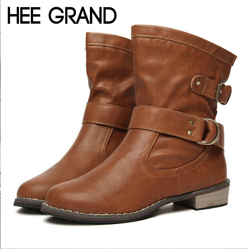 HEE GRAND Motorcycle Boots Slip On Pu Patent Leather Ankle Boots Shoes Woman Solid Platform Rubber Shoes Size 35-41 XWX7154HEE GRAND Motorcycle Boots Slip On Pu Patent Leather Ankle Boots Shoes Woman Solid Platform Rubber Shoes Size 35-41 XWX7154