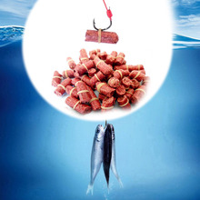 Hot Sale 50pcs/bag Red Carp Fishing Bait Smell Grass Baits Lure  insect particle rods suit Genera