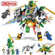 Ninjago Knights Armor Building Blocks Figures Toys Compatible Legoinglys KAI`s Dragon Mech Model Educational For Children Gifts(China)