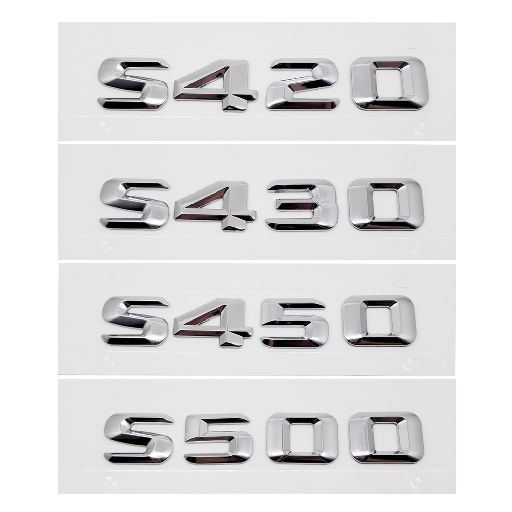 Chrome Metal Decal Car Sticker For <font><b>Mercedes</b></font>-Benz <font><b>S500</b></font> S450 S430 S420 AMG W211 <font><b>Mercedes</b></font> <font><b>Accessories</b></font> Emblem Car Refitting Badge image