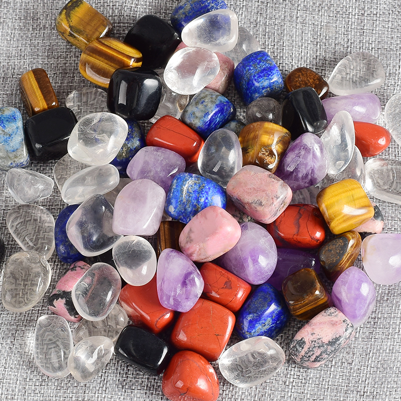 15-25 mm Tumbled Stone Bulk Assorted Mixed Gemstone Rock Minerals Crystal for Chakra Healing Crystals and Gemstones With Pouch