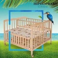 Многофункциональный расширенная твердой древесины twin кроватки кровать Колыбели кровать новорожденных Колыбели кровать может изменить об
