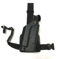 Military Gun Holster Tactical Colt 1911 Gun Carry Flashlight Leg Thigh Pistol Holster Hunting Combat Right Hand Gun Case