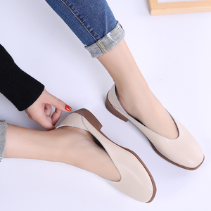 Image 4 - STQ 2020 Women Autumn Flats Shoes Genunie Leather Moccasin Shoes Slip On Sapato Feminino Ladies Casual Loafers Woman Shoes 2901