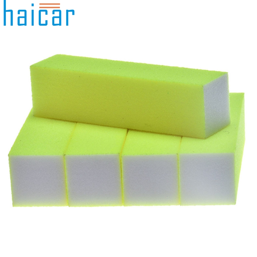 HAICAR 5 Pcs verde Fluorescente Nail Art Buffer de Arquivo Bloco de Pedicure Manicure Lustrando Lixar Polonês New Arrival J0125