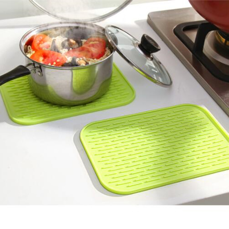8PCS/lot Non-slip Heat Resistant Dining Table Mats Coffee Cup Multifunction Square Hung Waterproof Silicone Pads Holder Pad Mat