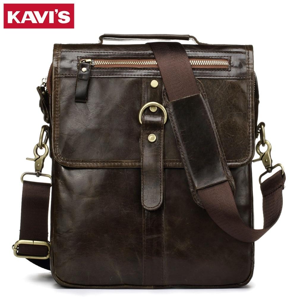 KAVIS 100% Cowhide Genuine Leather Shoulder Bag Original Men Messenger Crossbody Handbag Sling Chest For Male Small Zipper Soft духи other loris azzaro 100ml visit