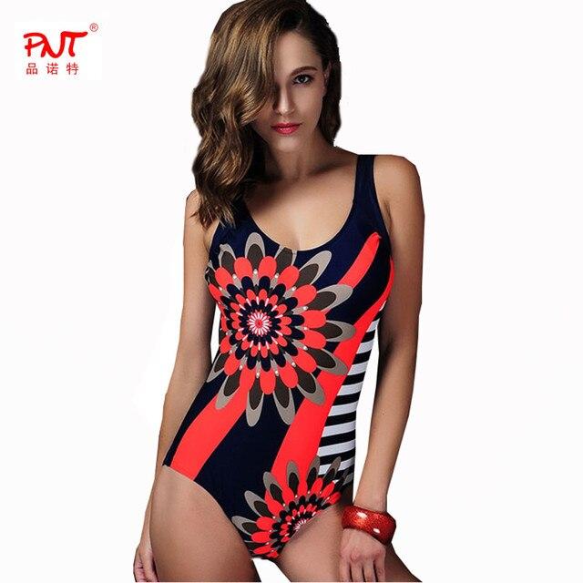 2018 sexy women swimwear one piece sun flower print Free Shipping Bikini  Red blue green open