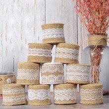 5cm*2m Lace Trim Ribbon Vintage Rustic Wedding Centerpieces Decoration Event Party Supplies
