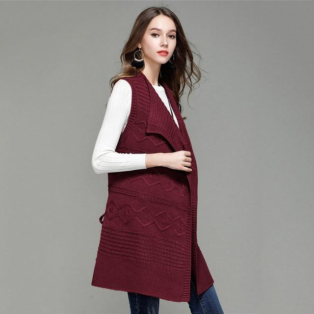 Tienda Online 2018 otoño invierno largo cardigan mujeres de punto ...