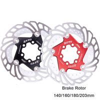 ZTTO 203MM Bicycle Brake Cooling Disc Floating Ice Rotor Cool Down Rotor With 6Pcs Screws Red/Black