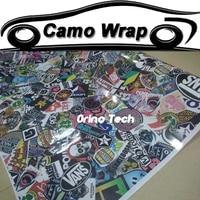 JDM Graffiti Stickerbomb Vinyl Wrap Film Car Motorcycle Scooter Bike Sticker Decal Car Styling Sticker Bomb Wrapping
