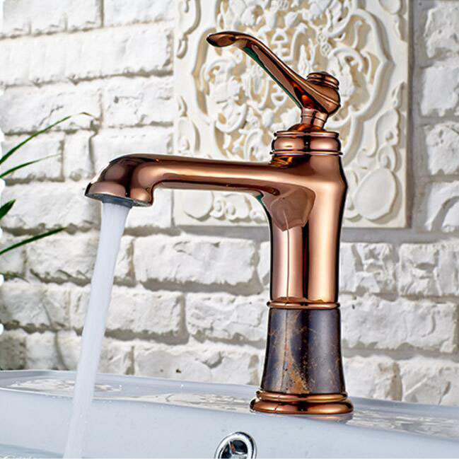 New arrival jade and brass faucet rose gold finished bathroom basin faucet,Luxury sink tap basin mixer High Quality water tap 2017 new arrival fashion high quality brass material gold rose gold finished bathroom sink faucet basin faucet tap mixer
