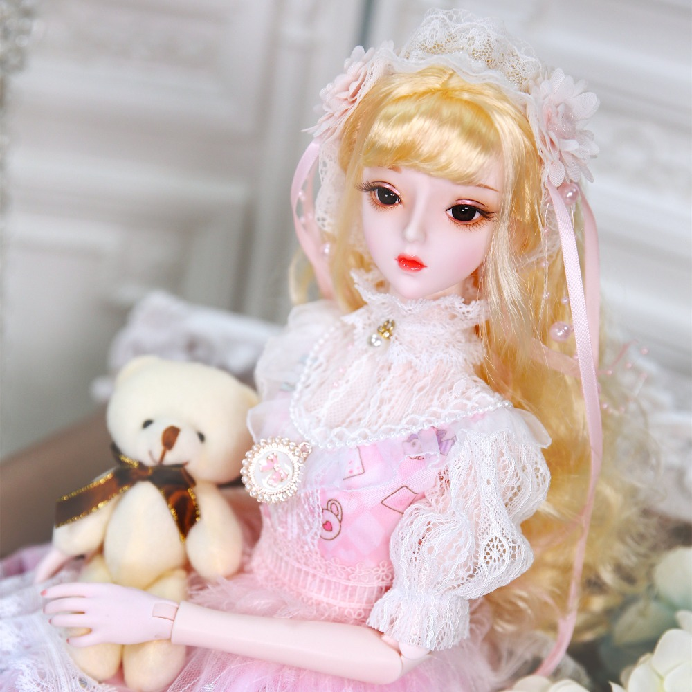 fortune day 1 3 bjd doll 62cm joint body doll white skin with hair clothes shoes