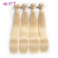 Много перуанский прямо 613 блондинка человеческих волос пучки 3 или 4 шт. 10