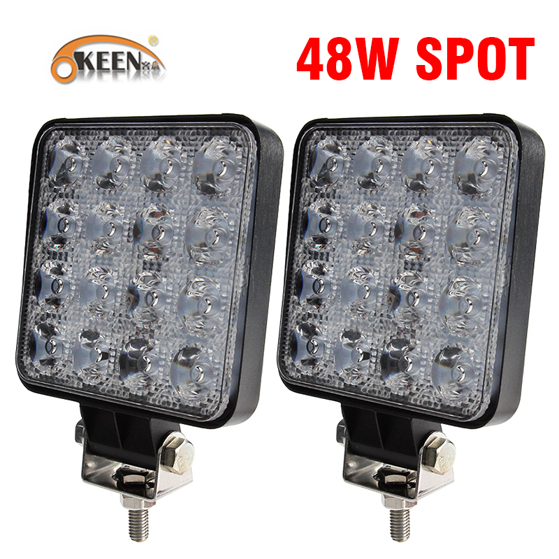 OKEEN 4 zoll 10 cm 18 watt 27 watt 48 watt Offroad Auto 4WD Lkw Traktor Boot Anhänger 4x4 SUV ATV 12 v Spot Flut LED Licht Bar LED Arbeit Licht