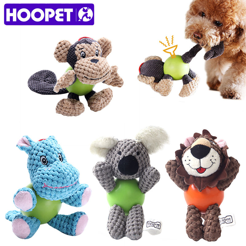 HOOPET Pet Dog Toys For Dogs Puppy Toy For Large Dogs Plush Squeak Interactive Dog Ball Supply