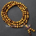 Bro809 национальный коричневый тигровый глаз камень из бисера 8 мм буддийского 108 молитва медитация мала человек амулет браслеты