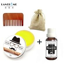 Beard Wax Balm Beard Oil Men Shape Beard Grooming Beard products Healthy Conditioner Moisturizing Cream Makeup  Hot Sale