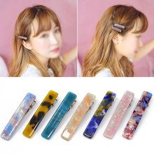 1PC New Women Japanese Acetate Long Colorful Barrettes Elegant Hair Clips Headbands Lady Metal Hairpins Fashion Accessories