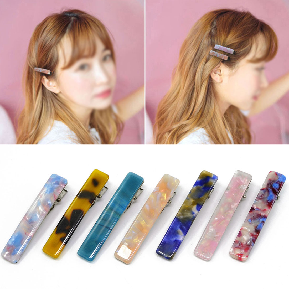 Hot Sale Resin Acetate Hair Clip Elegant Women Barrettes Hair Clip Hairgrips Hair Styling Accessories For Girls Best Gifts in Women 39 s Hair Accessories from Apparel Accessories