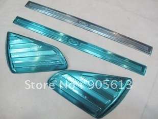 Original designWholesale price/304#stainless steel door sill plate/scuff plate with 4pcs for Land Rover Freelander 2