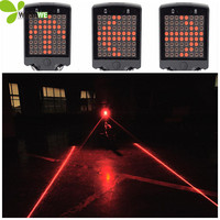 New Bike Rear Light Bicycle Remote Control Turn Signals Taillight Cycling 64 LED Warning Safety Laser