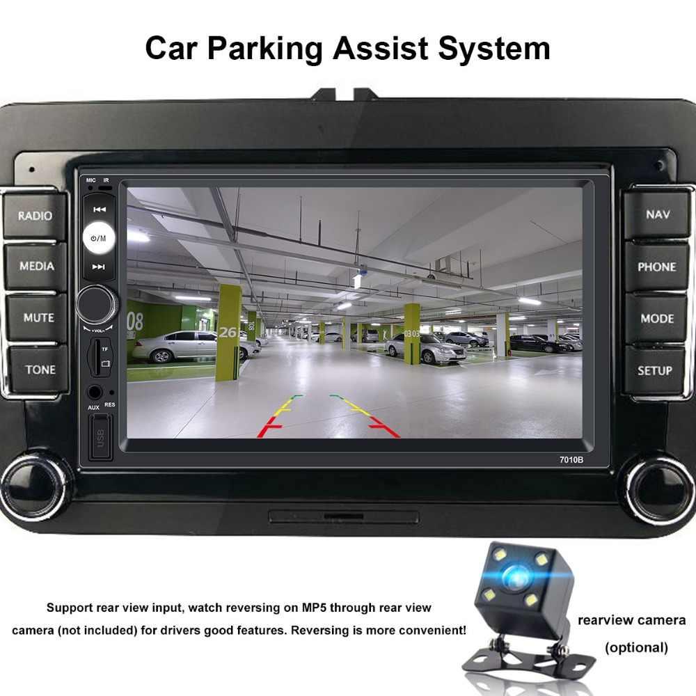 "7010b Radio Auto 2 Din Autoradio 7 ""Hd Touch Screen 2din Auto Multimedia Speler Auto Audio Stereo Mp5 Bluetooth 12 v TF Usb Camera"