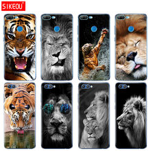 Silicon Cover phone Case for Huawei Honor 10 V10 3c 4C 5c 5x 4A 6A 6C pro 6X 7X 6 7 8 9 LITE Lion tiger Fashion Lovely Animal(China)