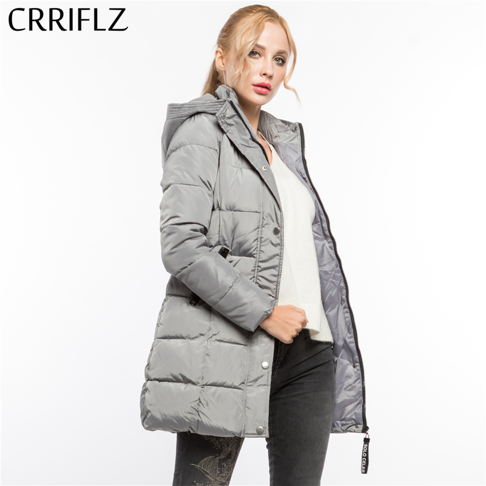 CRRIFLZ Winter Clearance Fashion Warm Winter Jacket Women Hooded Coat   Parkas   Female Outerwear