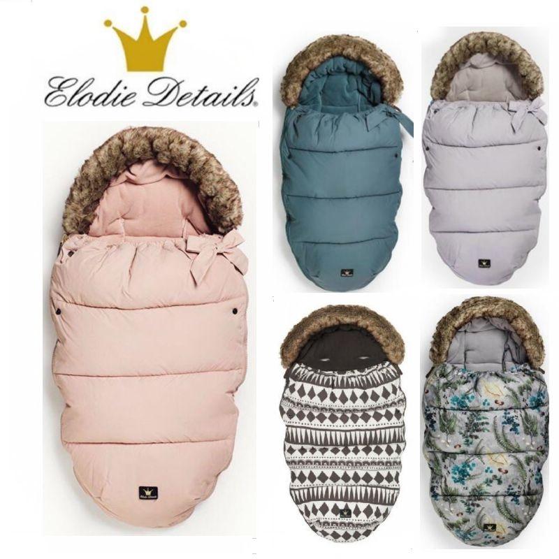 Оригинальный Elodie Details спальный мешок для новорожденных зимние толстые теплые мешки сна для коляски спальный мешок