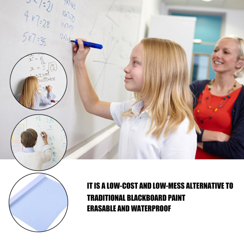 200*45cm Whiteboard Sticker Dry Erase Boards Removable Wall Decal Chalkboard + Whiteboard Pen Kids Rooms Kitchen Fridge Magnets