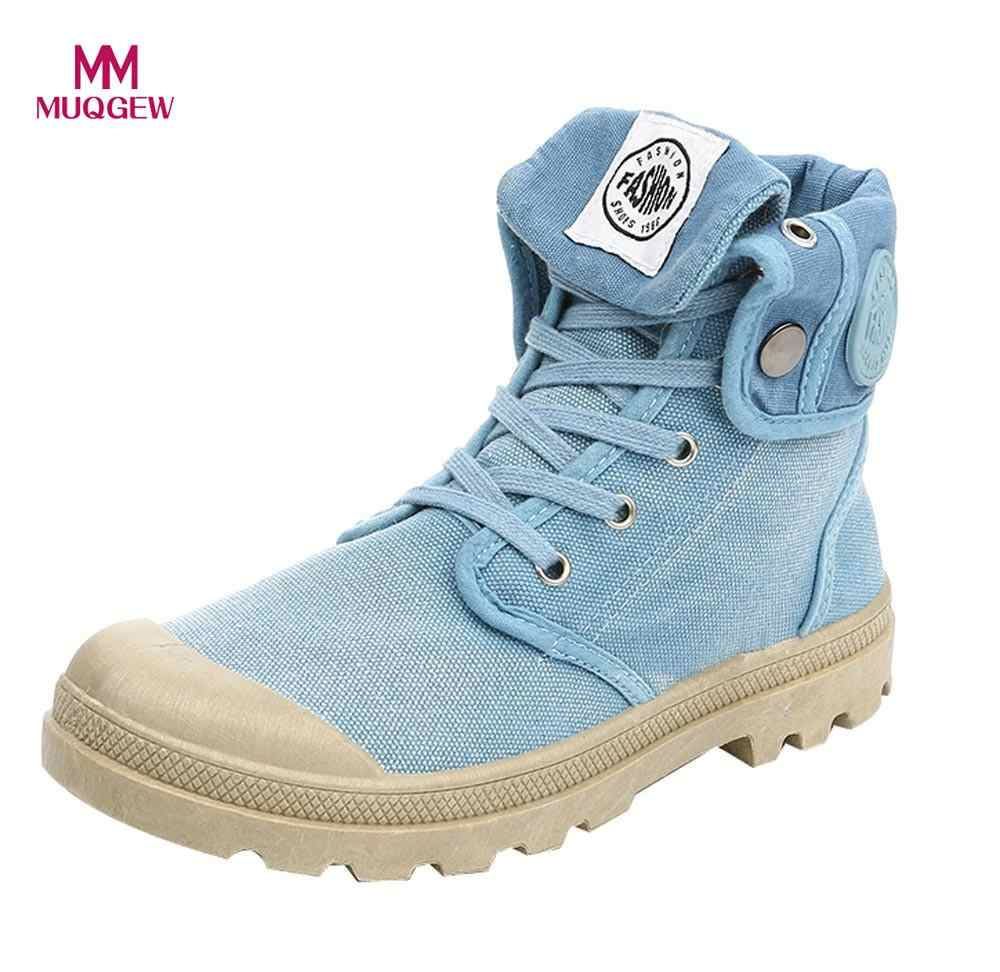 2170a43cb9c 2018 New Canvas Shoes Women Boots Palladium Style Fashion High-top Military  Ankle Casual Shoes
