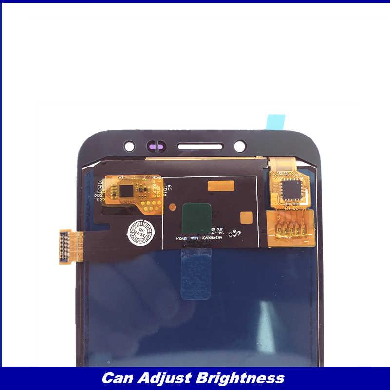 اختبار LCD قطع غيار سامسونج غالاكسي J2 برو 2018 J250 J250F J250H عرض مجموعة المحولات الرقمية لشاشة تعمل بلمس ضبط السطوع