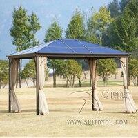 3*3,6 метра Ньюпорт Хардтоп садовая беседка навес для уличной палатки алюминиевый солнцезащитный козырек pavilion дом с мебелью с боковинами