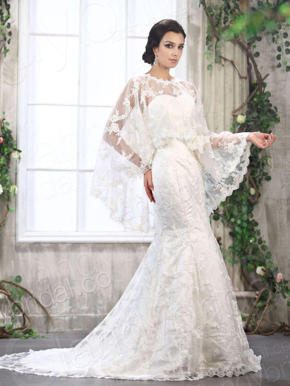 Hot Sell Bridal Lace Wedding Shawl Wrap Wraps Jacket Cape Bolero Gown For Party Dresses In Jackets