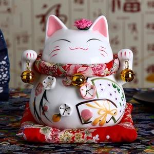 6 inch Ceramic Maneki Neko Figurine Lucky Cat Money Box Ornament Feng Shui  Home Decoration Fortune Cat Coin Bank figurine cat figurine boxefigurine  statue - AliExpress