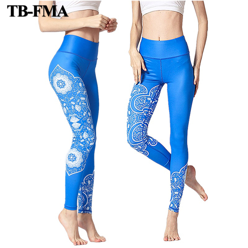 2018 New Yoga Pants Women High Waist Yoga Leggings Sports Fitness Running Tights Trousers Compression Sportswear Free Shipping