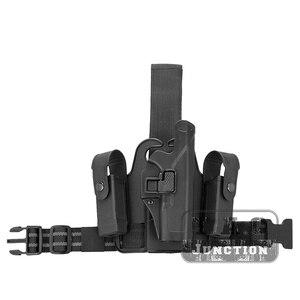 Тактическая кобура Serpa Level 2 с автоматическим замком, Duty, правая ножка, быстрая кобура для пистолета w/ 2x, мешочек для Glock 17 19 22 23 31 32