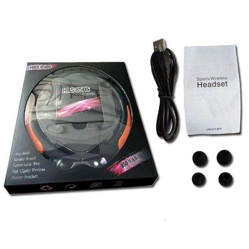 Écouteurs HD sport Bluetooth améliorés, casque stéréo basse, écouteurs sans fil rétractables avec micro pour téléphone - 6