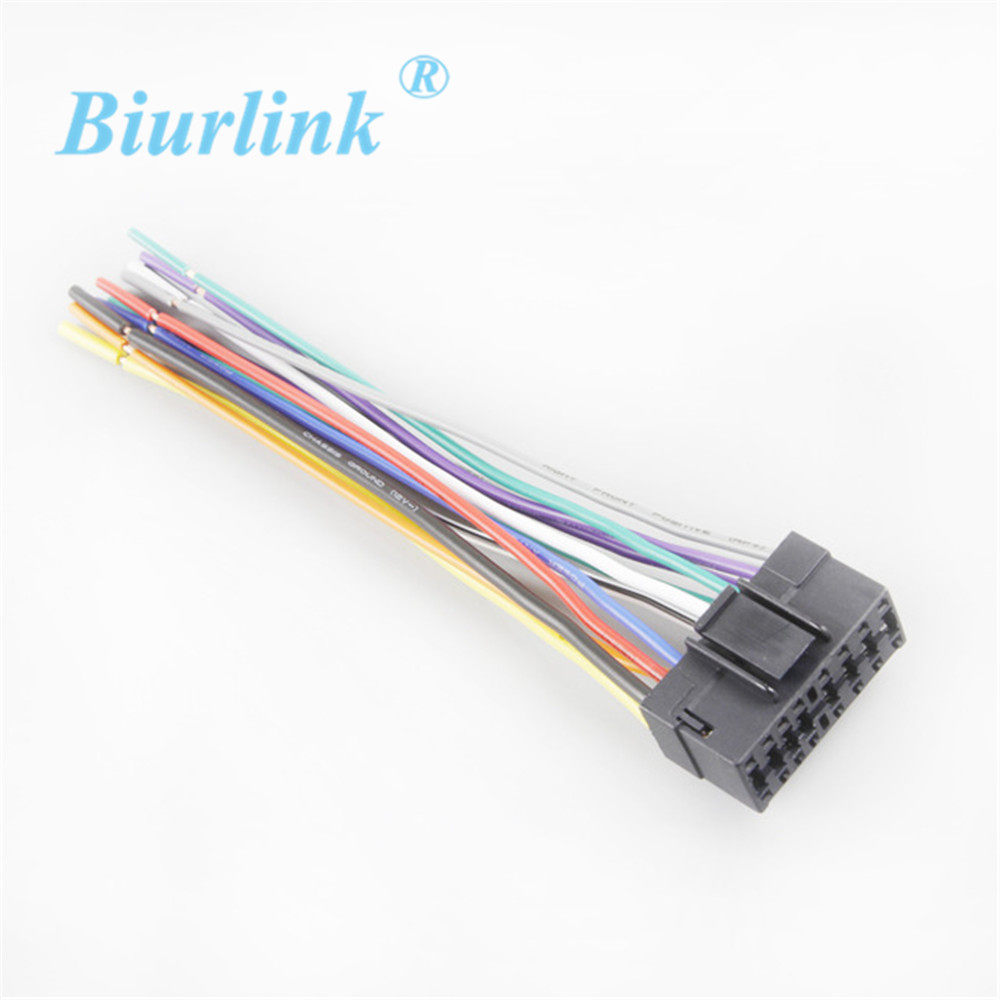 Online Shop Car Iso Harness Radio Wire Adapter Wiring Connector Stereo Toyota Power Cable For Sony Headunit 16 Pin