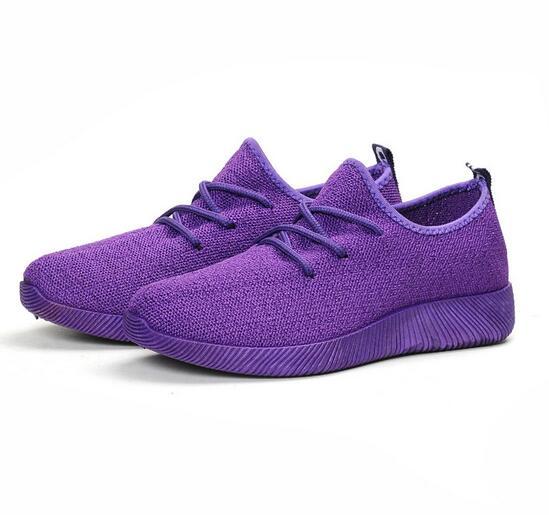 Respirant slip Sneakers deep Purple 41 De 2018 Femmes blanc Non 35 rose Espadrilles Chaussures Sport Noir Confortable Maille Bxw0zCqYCa