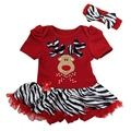 Red Deer Christmas Costumes for Kids Party Clothes Dress + Headband Girls Clothing Sets Summer 2015 Baby Girl Christmas Outfit