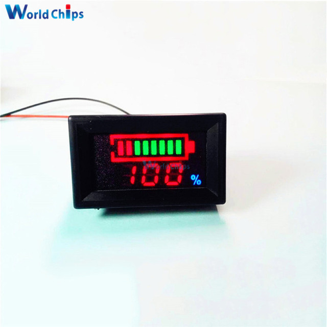 6 12 v blei s ure batterie anzeige batteriekapazit t led tester voltmeter ladezustandsanzeige. Black Bedroom Furniture Sets. Home Design Ideas