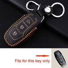 BBQ@ FUKA кожаный пульт дистанционного управления смарт брелок держатель с брелок для 3 кнопок Ford Mondeo Fusion Автомобиль-Стайлинг