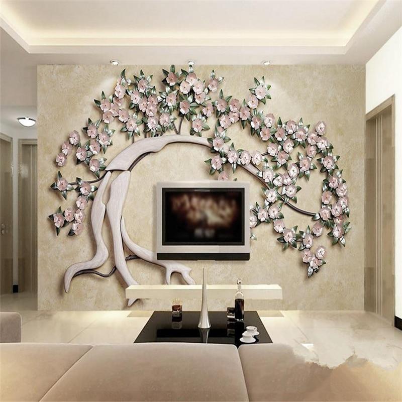 indoor mural wallpapers imitation european iron