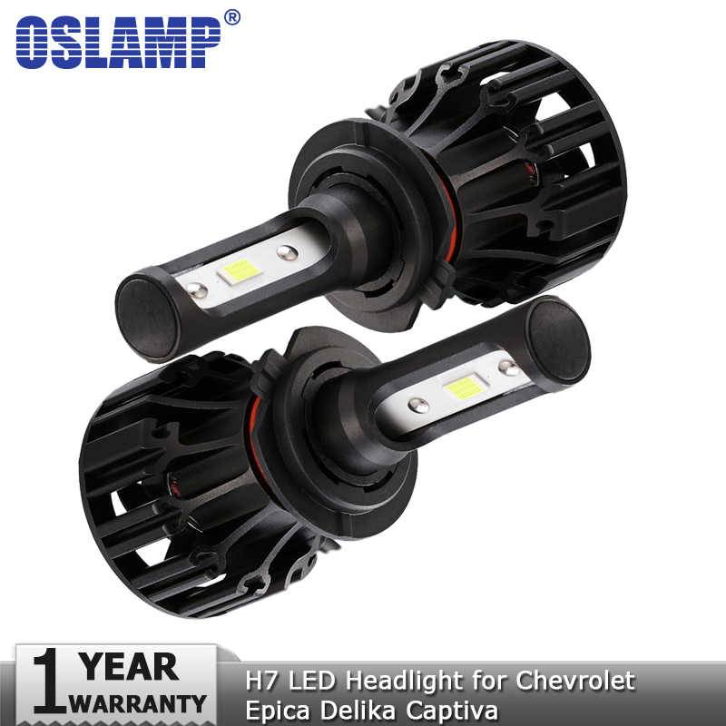 Oslamp COB 72W 8000lm H7 H1 Hi lo Beam LED Headlight Bulbs DC12v 24v Auto Headlamp Car Light for Chevrolet Epica Delika Captiva